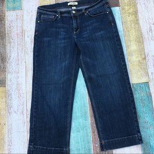 NWOT White House Black Market Noir crop jeans